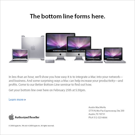Your Business on a Mac: A Better Bottom Line